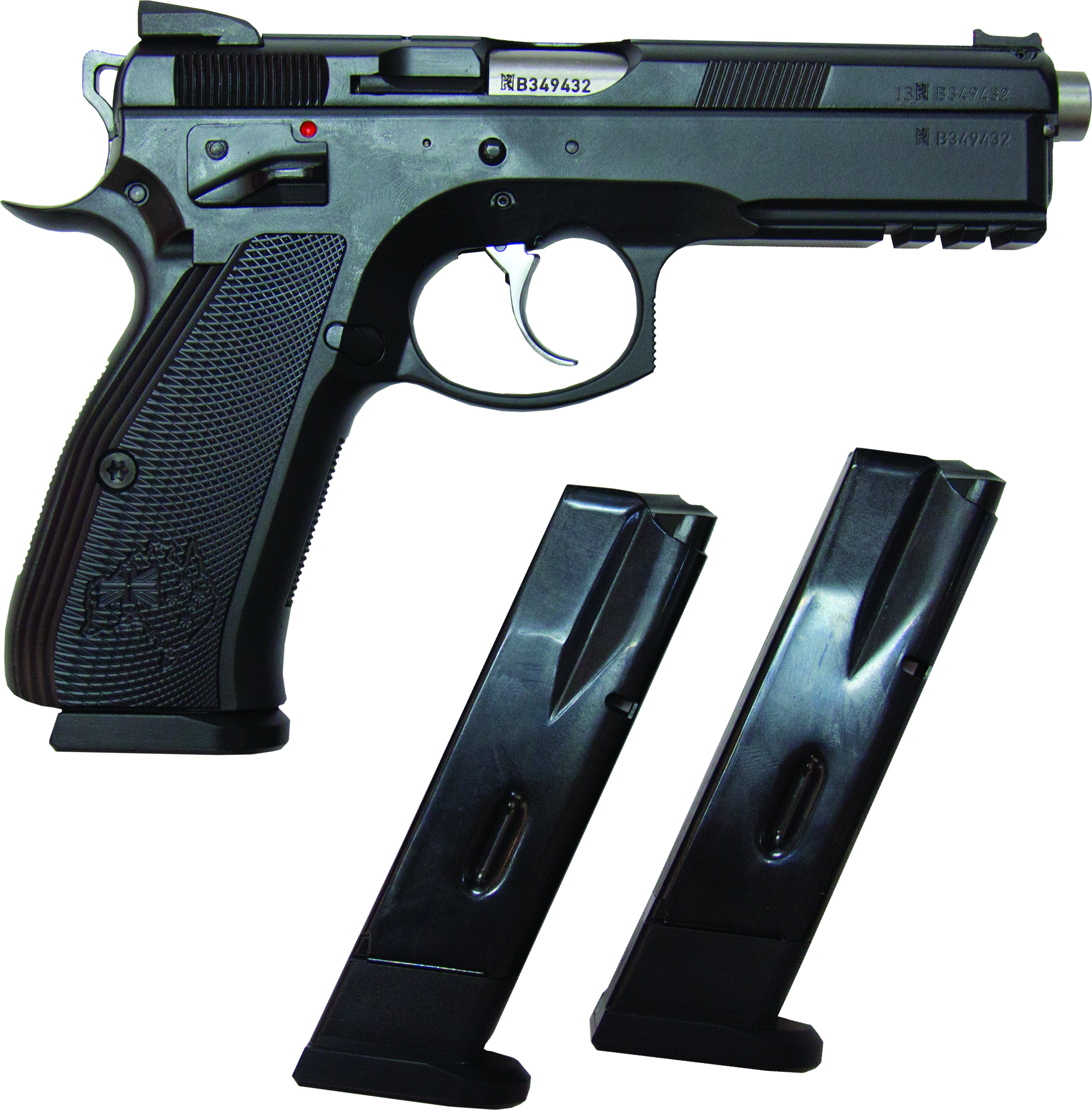 CZ 75 SP-01 SHADOW AUST SPEC 9MM 120MM, 2 S/MAGS 10RND MAG