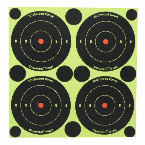 "Birchwood Casey Shoot-N-C 3"" Bullseye Targets Pack of 12"