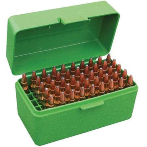 MTM 50 Rd Ammo Box Deluxe 17-222 Green